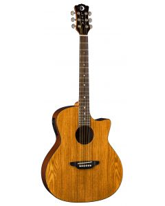 Luna Gypsy Exotic Ash Acoustic Electric Guitar Gloss Natural GYP E ASH GYP E ASH