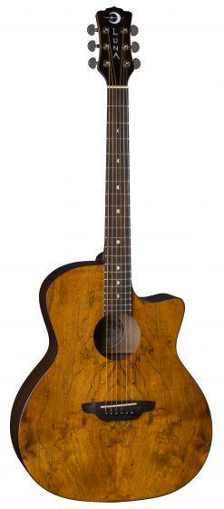 Luna Gypsy Exotic Spalt Acoustic Guitar GYP SPALT