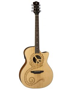 Luna Oracle Peace Acoustic Electric Solid Spruce Top OCL PCE OCL PCE