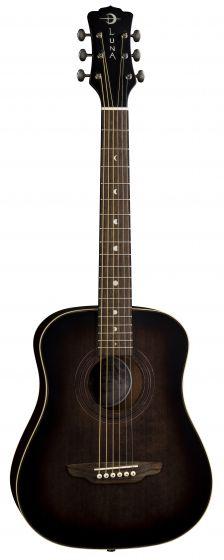 Luna Safari Art Vintage Travel Guitar w/Bag SAF ART VINTAGE