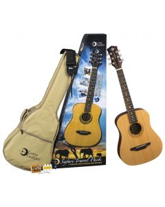 Luna Safari Muse Travel Acoustic Guitar Package w/Acc SAF PK SAF PK