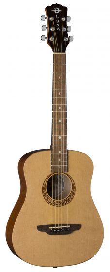Luna Safari Muse Travel Guitar Spruce w/Bag SAF MUS SPR