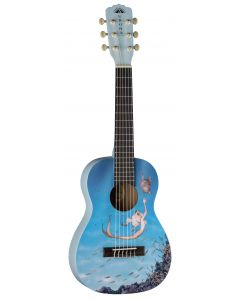 Luna Aurora 1/2 Nylon Acoustic Guitar Mermaid AR2 NYL MERMAID AR2 NYL MERMAID