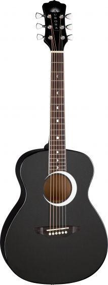 Luna Aurora Borealis 3/4 Guitar Black AR BOR BLK