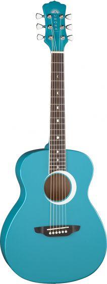 Luna Aurora Borealis 3/4 Guitar Teal AR BOR TEAL