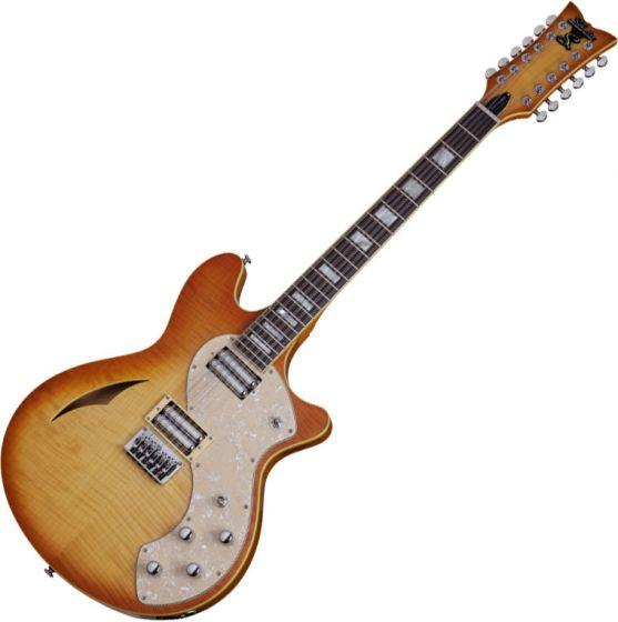 Schecter TSH-12 Classic Electric Guitar Vintage Natural Burst
