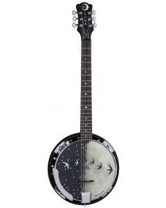 Luna Moonbird Black Banjo 6-String w/Pickup BGB MOON 6E BGB MOON 6E