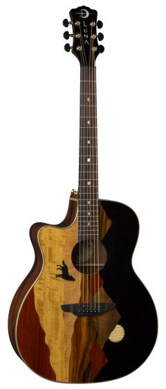 Luna Vista Wolf Tropical Wood Lefty w/Case VISTA WOLF L