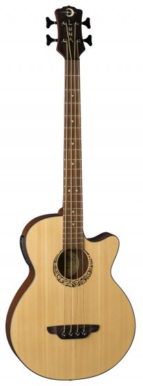 Luna Tribal Acoustic/Electric Bass 30 Inch LAB 30 TRIBAL