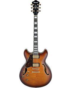 Ibanez AS Artcore Expressionist Left Handed Violin Sunburst AS93FML VLS Hollow Body Electric Guitar AS93FMLVLS
