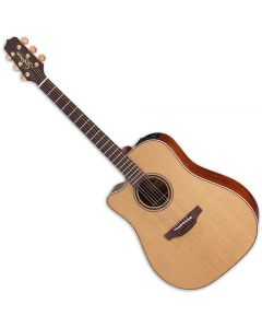 Takamine P3DC Left Handed Acoustic Guitar in Natural Satin Finish TAKP3DCLH