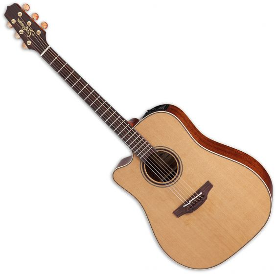 Takamine P3DC Left Handed Acoustic Guitar in Natural Satin Finish