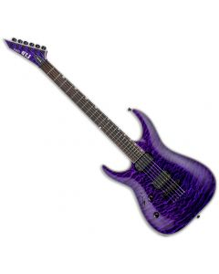 ESP LTD MH-1000NT Left Handed Electric Guitar in See Thru Purple LMH1000NTQMSTPLH