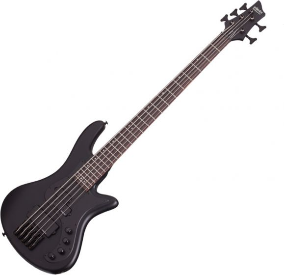 Schecter Stiletto Stealth-5 Electric Bass Satin Black