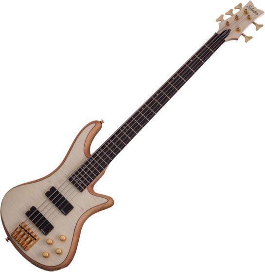Schecter Stiletto Custom-5 Electric Bass Gloss Natural