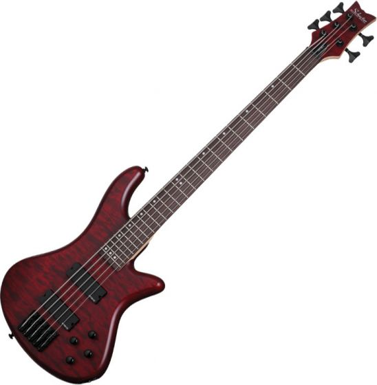 Schecter Stiletto Custom-5 Electric Bass Vampyre Red Satin
