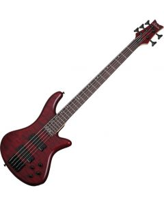Schecter Stiletto Custom-5 Electric Bass Vampyre Red Satin  SCHECTER2538