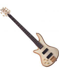 Schecter Stiletto Custom-5 Left-Handed Electric Bass Gloss Natural  SCHECTER2542