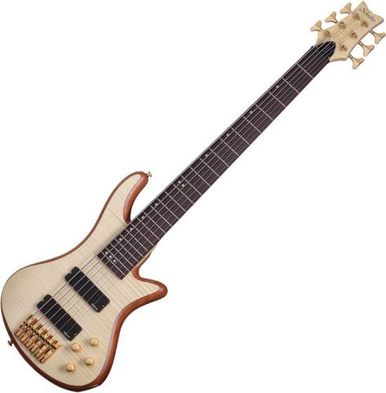 Schecter Stiletto Custom-6 Electric Bass Gloss Natural