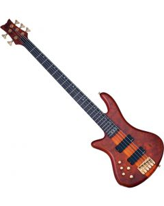Schecter Stiletto Studio-5 Left-Handed Electric Bass Honey Satin  SCHECTER2780