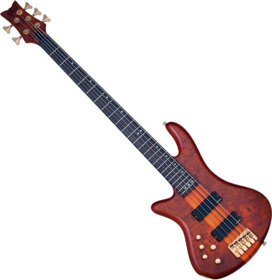 Schecter Stiletto Studio-5 Left-Handed Electric Bass Honey Satin