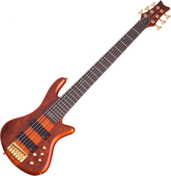 Schecter Stiletto Studio-6 Electric Bass Honey Satin