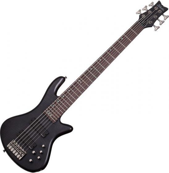 Schecter Stiletto Studio-6 Electric Bass See-Thru Black Satin