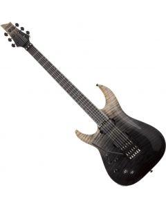 Schecter C-1 FR-S SLS Elite Left Hand Electric Guitar in Black Fade Burst SCHECTER1364