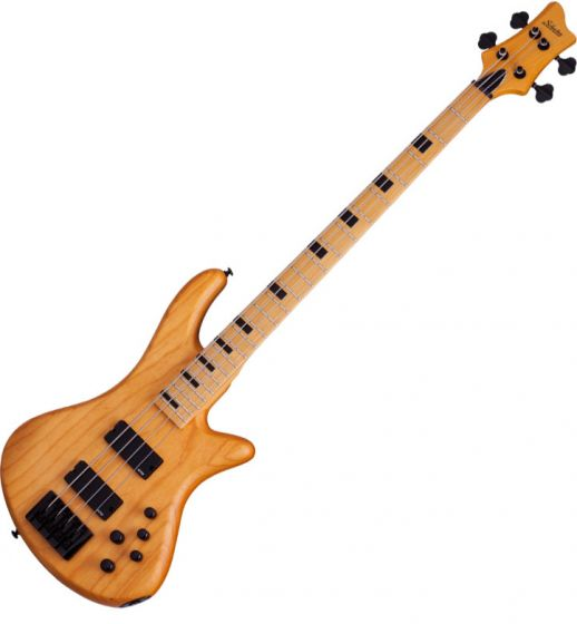 Schecter Session Stiletto-4 Electric Bass in Aged Natural Satin Finish