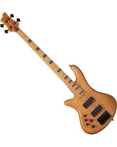 Schecter Session Stiletto-4 Left-Handed Electric Bass in Aged Natural Finish SCHECTER2854