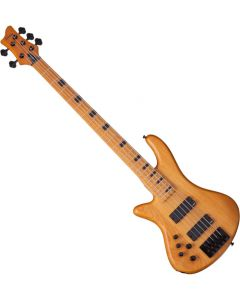 Schecter Session Stiletto-5 Left-Handed Electric Bass in Aged Natural Finish SCHECTER2855