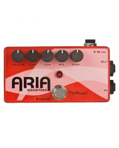 Pigtronix Aria Disnortion Diode Clipping Overdrive with 3-Band Active EQ Guitar Pedal XES